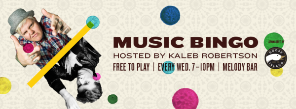 Music Bingo banner